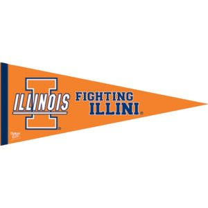 Illinois Fighting Illini Pennant Flag