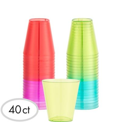 Fiesta Plastic Shot Glasses 40ct