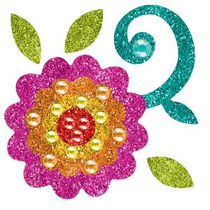 Fiesta Glitter Flower Body Jewelry