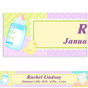 Custom Pastel Patchwork Baby Shower Banner 6ft