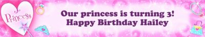 Custom Princess Banner 6ft