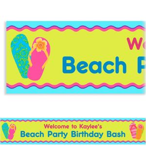 Custom Flip Flop Summer Banner 6ft