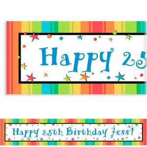 Custom A Year to Celebrate Birthday Banner 6ft