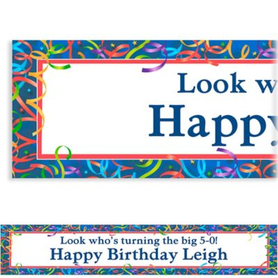 Celebration Streamers Custom Birthday Banner