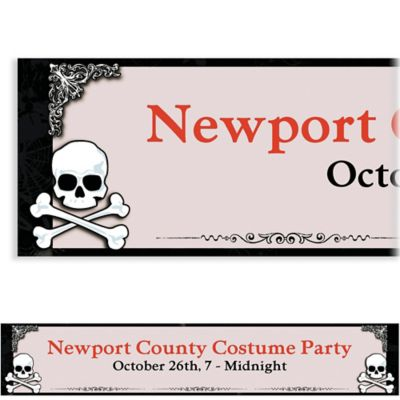 Midnight Dreary Halloween Custom Banner