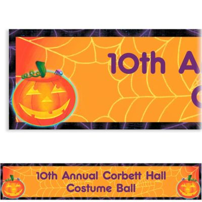 Custom Playful Pumpkin Halloween Banner 6ft