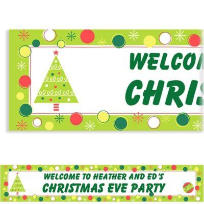 Holiday Buzz 1 Custom Christmas Banner