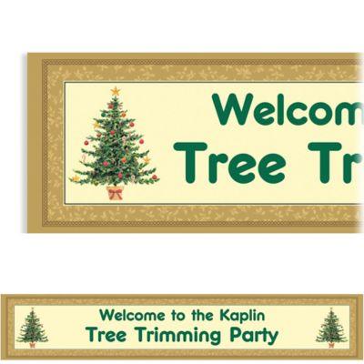Victorian Tree Custom Christmas Banner