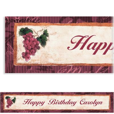 Vineyard Grapes Custom Banner 6ft