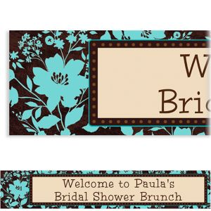 Custom Cocoa Floral Banner 6ft