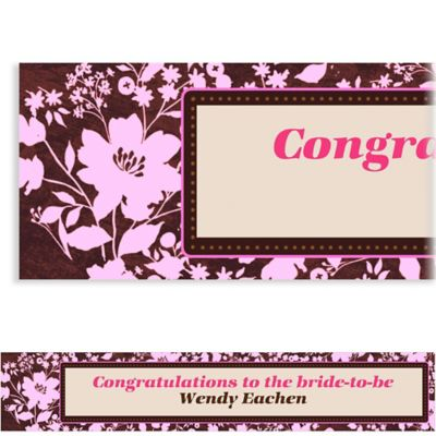 Cocoa Floral Pink Custom Banner 6ft