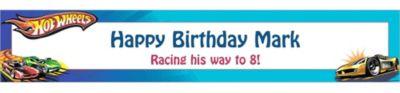 Hot Wheels Custom Birthday Banner 6ft