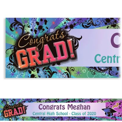 Grad Reflections Custom Graduation Banner