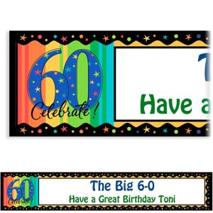 Custom A Year to Celebrate 60th Birthday Banner 6ft