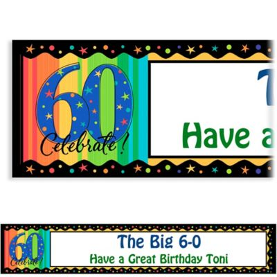 A Year to Celebrate 60 Custom Birthday Banner