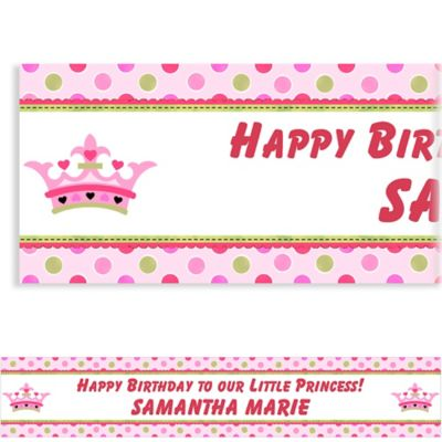 Custom Little Princess Birthday Banner 6ft
