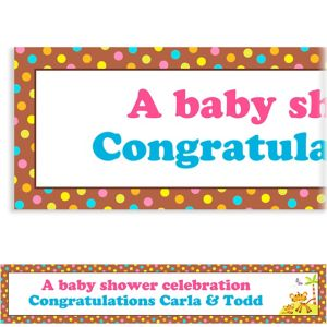 Custom Fisher Price Baby Shower Banner 6ft