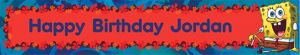 Custom SpongeBob Simply Birthday Banner 6ft