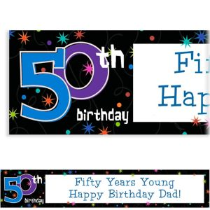 Custom The Party Continues 50th Birthday Banner 6ft