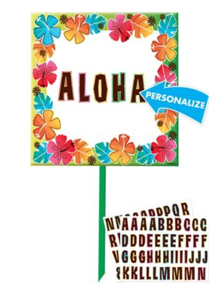 Tropical Flower Yard Sign