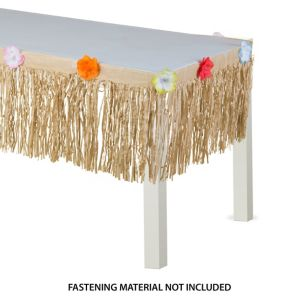 Natural Grass Paper Table Skirt