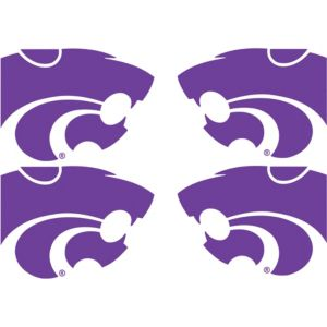 Kansas State Wildcats Face Decals 4ct