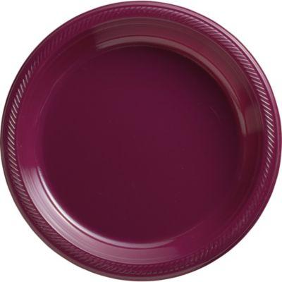 Berry Plastic Dinner Plates 50ct