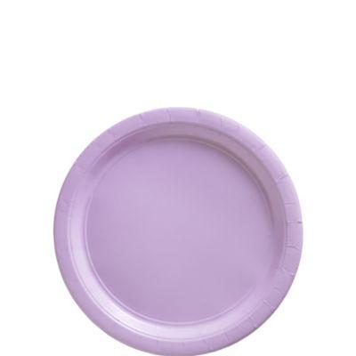 Lavender Paper Dessert Plates 50ct