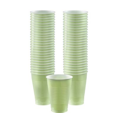 BOGO Leaf Green Plastic Cups 12oz 50ct