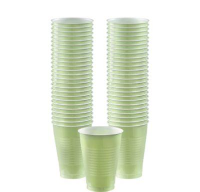 BOGO Leaf Green Plastic Cups 12oz 50ct