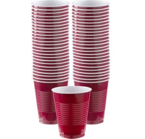BOGO Berry Plastic Cups 16oz 50ct