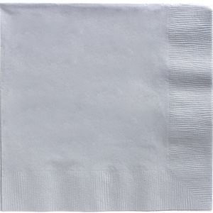 Big Party Pack Silver Dinner Napkins 50ct