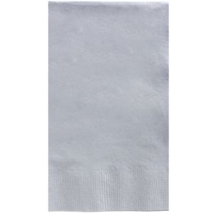 Big Party Pack Silver Guest Towels 40ct