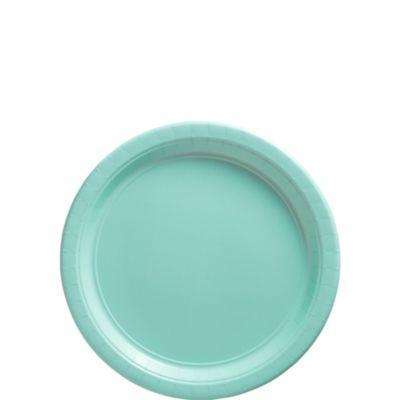 Robin's Egg Blue Paper Dessert Plates 50ct