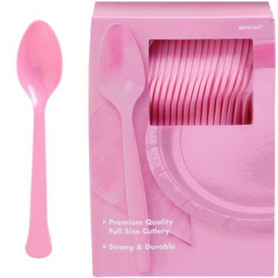 Pink Premium Plastic Spoons 100ct