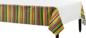 Crafty Stripe Paper Table Cover 54in x 102in