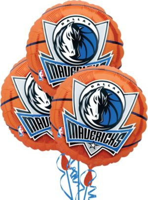 Dallas Mavericks Balloons 3ct - Basketball
