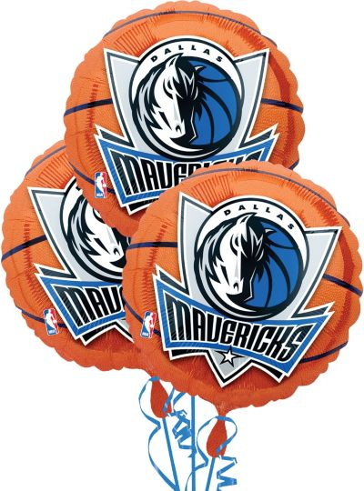 Dallas Mavericks Balloons 18in 3ct