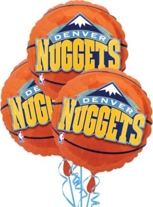 Denver Nuggets Balloons 3ct - Basketball