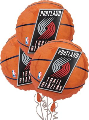 Portland Trailblazers Balloons 18in 3ct