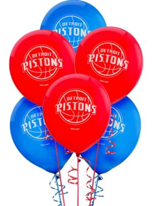 Detroit Pistons Latex Balloon 12in 6ct
