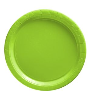 Kiwi Green Paper Lunch Plates 20ct