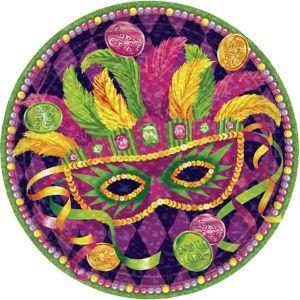 Masquerade Mardi Gras Lunch Plates 8ct