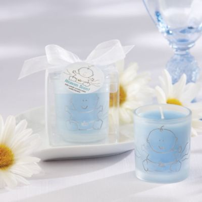 Blue Heaven Scent Candle Baby Shower Favor