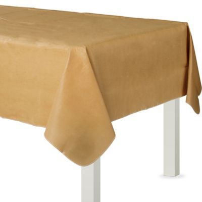 Gold Flannel-Backed Vinyl Table Cover