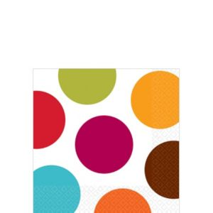 Multicolored Polka Dot Beverage Napkins 16ct
