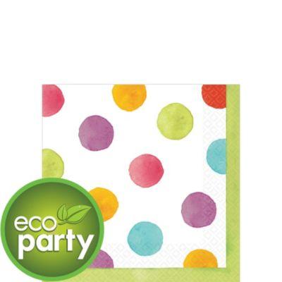 Watercolor Dots Beverage Napkins 36ct