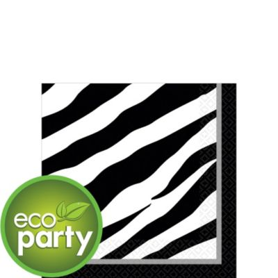 Zebra Print Beverage Napkins 36ct