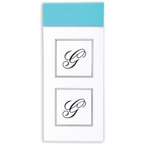 Monogram G Sticker Seals 30ct