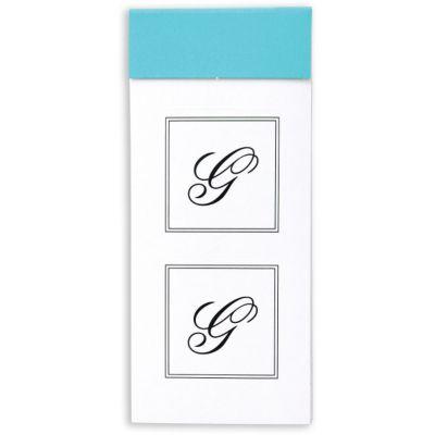 Monogram Envelope Seals G 30ct